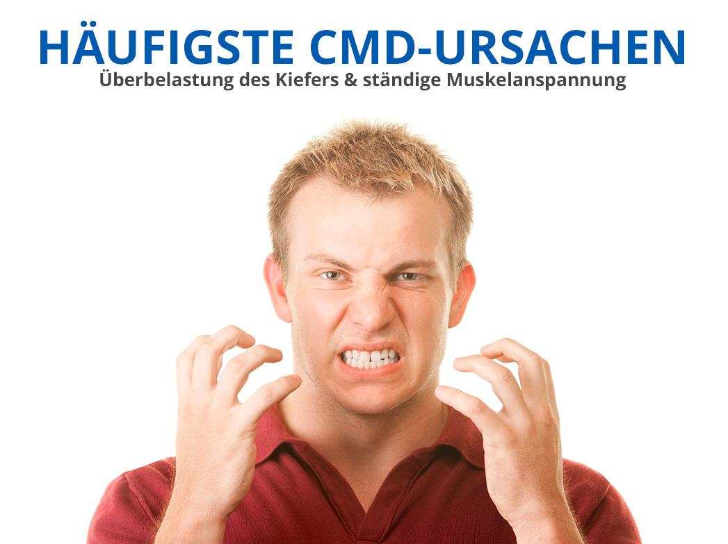 Überlastung des Kiefers & ständige Muskelanspannung als Ursache für eine Craniomandibuläre Dysfunktion